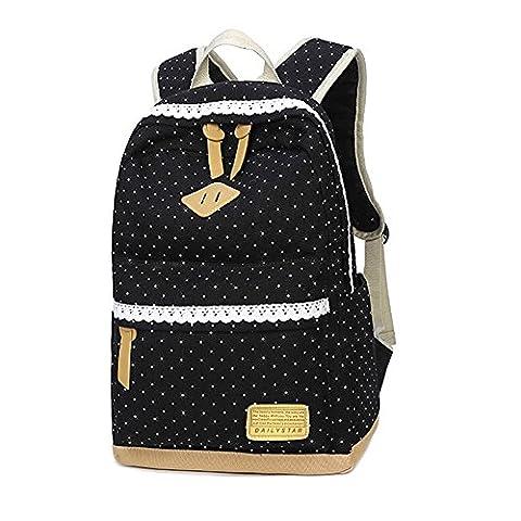 Mode Schulranzen, Jungen und Mädchen Schulrucksack , Damen Segeltuch Rucksack,