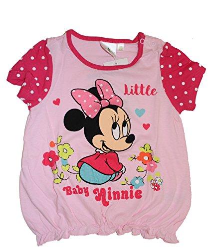 Disney Baby Minie Maus Mädchen T-Shirt (62/68 (6 Monate) Rosa 2) (Langarm-shirt Daisy)