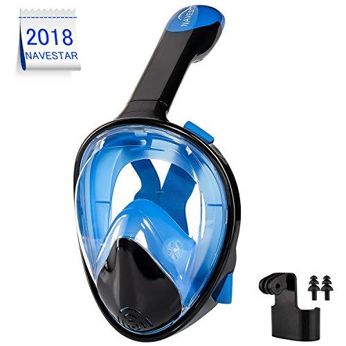 NAVESTAR Tauchmaske Schnorchelmaske vollmaske bringt Kinder und Erwachsene Einem 180° Gesichtsfeld, Easybreath und Anti-Beschlag Design der Vollgesichtsmaske Machen mehr praktische beim Schnorcheln