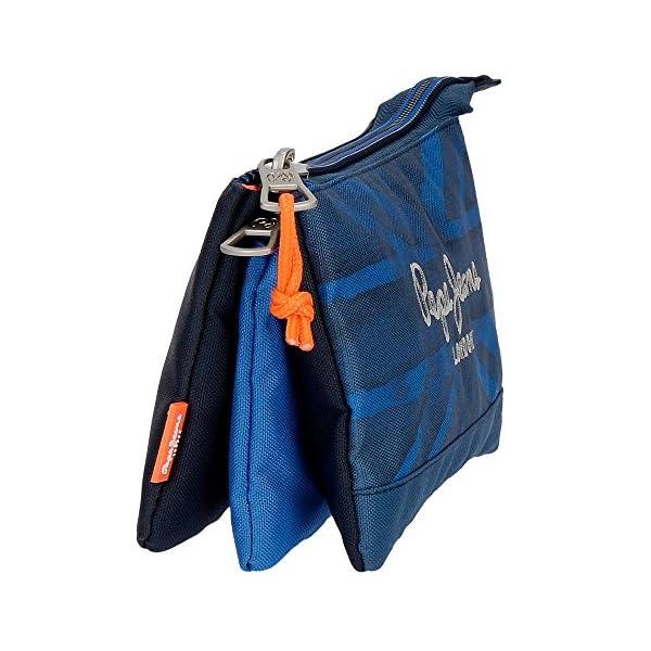 Pepe Jeans Fabio Neceser de Viaje, 22 cm, 1.32 litros, Azul