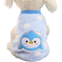 Fossrn Ropa Perro Pequeño Yorkshire Invierno Mascotas Chihuahua Animal de Dibujos Animados Abrigos Suéter Camisa para
