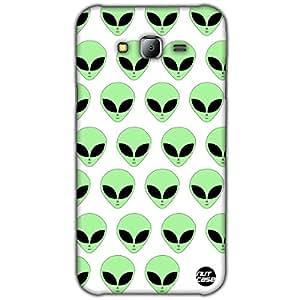 Designer Samsung Galaxy J7 Case Cover Nutcase -Aliens (White)