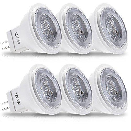 LOHAS 2Watt GU4 MR11 LED Lampen, Ersatz für 35Watt Halogenlampen, 200LM, Warmweiß 3000K, Nicht dimmbar, LED Birnen, LED Leuchtmittel,6er-Pack -
