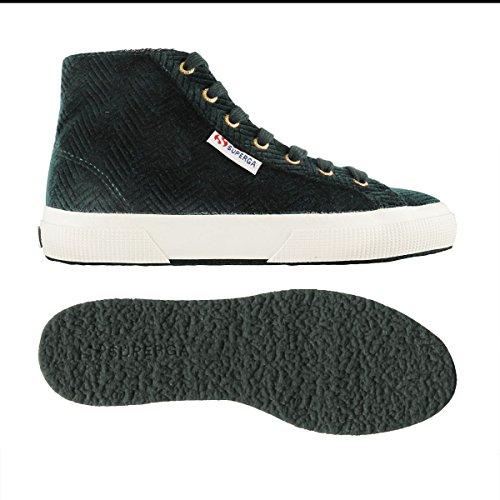 Superga 2795 Curveflannelw, Sneakers Unisex – Adulto GREEN DK