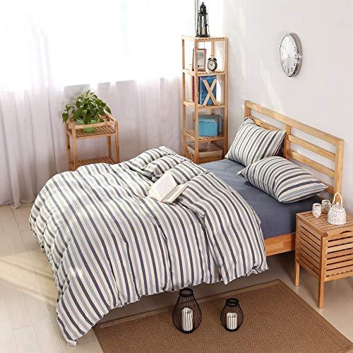 BFMBCH New gewaschener Baumwolle Garn gefärbt einfache Baumwolltücher vierteilig B 200cm * 230cm -