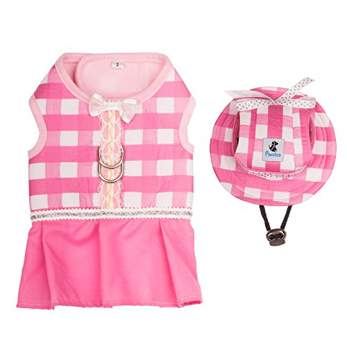 Pawaboo Haustier Kleidung und Mütze, Hunde Welpen Katze Prinzessin Kleidung Vest mit...