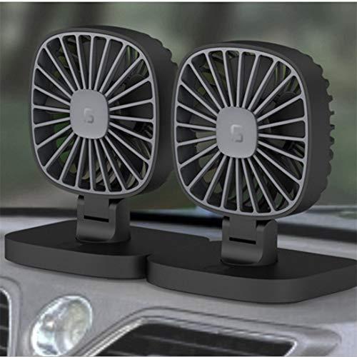 Lin XH USB-Tischventilator Autokühlventilator Verbesserter Luftstrom Geringere Geräuschentwicklung Drei Geschwindigkeiten Perfekter persönlicher Kühlventilator für den Home-Office-Tisch - Das Perfekte Home Office