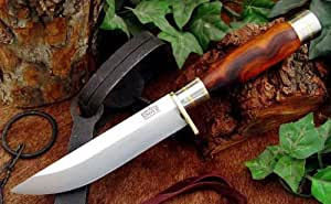 Couteau de chasse Bark River Knives Searles Hunter, Desert Ironwood Burl,Vintage Spacers