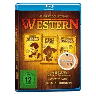 Western Collection (Jesse James, Wyatt Earp, Jeremiah Johnson) 3 Disc Set [Blu-ray]