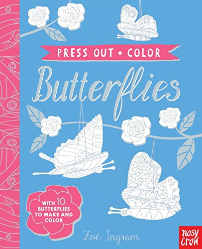 Press Out and Color: Butterflies por Nosy Crow