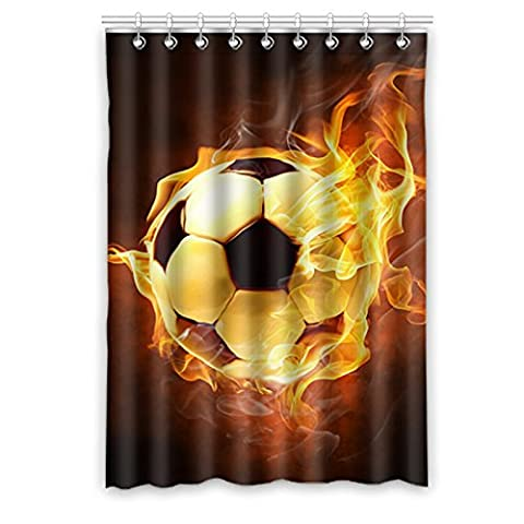 Custom Football (1) Rideau de fenêtre 132,1cm (L) x 160cm (H) souple étanche Tissu Polyester, écoute, impression d'un style monobloc (9trous), Polyester, Football(4), 52x63(inches)