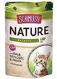 Schmusy Katzenfutter Nature Balance für Kitten mit Kalb 100 g, 24er Pack (24 x 100 g)