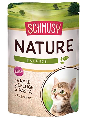 Schmusy mangime per Gatti Natures Menu per Kitten con Vitello 100G, Confezione da (24X 100G)