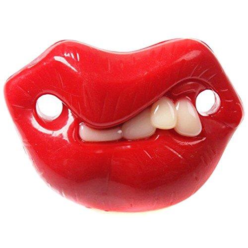 VWH Baby Silikon lustig Zahn Nippel Kleinkind Dummy Streich Beißring Schnuller Beruhigungssauger Witz mit Rot