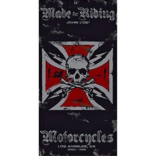 John Doe Gesichtsschoner, Multifunktionstuch Multituch Cross black/red, Unisex, Multipurpose, Ganzjährig, Polyester, rot, Einheitsgröße -