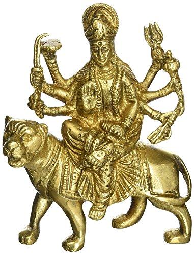 Crafthut Brass Statue and Sculpture of Maa Durga/Sherawali Idol Hindu Art Puja Gifts