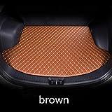 HIZH Pelle Tappetino Auto Tappeto per Mini Cooper Clubman Countryman Paceman F54 F55 F56 F60 R55 R60, Brown