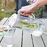 bremermann Kühlkaraffe, Wasserkaraffe 2,4 Liter mit Kühl- und Aromastab (weiß) - 4