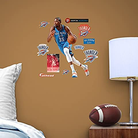 NBA Kevin Durant OKC Home and Away Fathead Teammate by FATHEAD