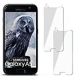 moex 2X 9H Panzerfolie für Samsung Galaxy A5 (2017) | Panzerglas Display Glasfolie [Tempered Glass] Screen Protector Glas Displayschutz-Folie für Samsung Galaxy A5 2017 Schutzfolie