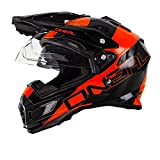 O'Neal Sierra Adventure Helm Edge Schwarz Orange Motocross Offroad Enduro MX, 0815-2, Größe Small (55-56 cm)