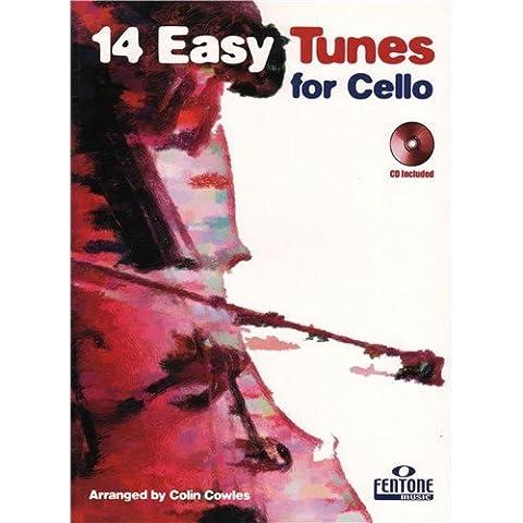 14 Easy Tunes for Cello (Cello & Piano/CD)