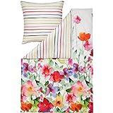 Estella Mako-Satin Wendebettwäsche Aquarell multicolor 135x200 cm + 80x80 cm