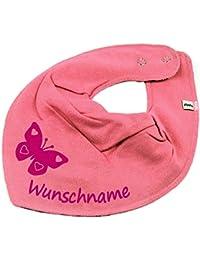 HALSTUCH SCHMETTERLING mit Namen oder Text personalisiert für Baby oder Kind verschiedene Ausführungen