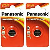 2 x Panasonic CR1620 1620 3V Lithium Batteries