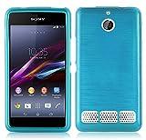 Sony XPERIA E1 (1.SIM) Silikon-Hülle in TÜRKIS von
