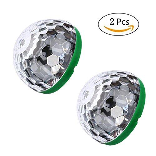Tragbare Home Party Stroboskop Led Disco glühbirne für karaoke xmas auszeichnungen (Grün, Für iPhone(2pcs)) (Disco-ball-christmas Lights)