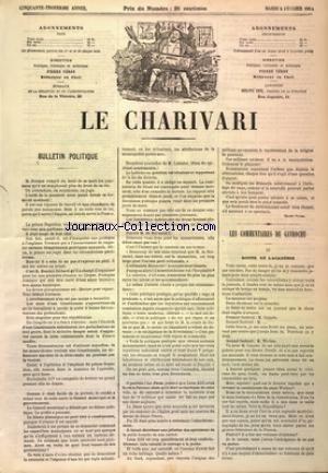 CHARIVARI (LE) du 25/02/1884