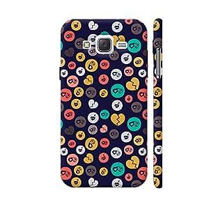 Colorpur Romance Love Colorful Hearts Circles On Dark Blue Designer Mobile Phone Case Back Cover For Samsung Galaxy J5 | Artist: Designer Chennai