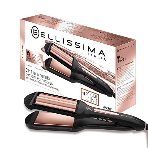 Imetec Bellissima My Pro 2 en 1 Straight&Waves B29 100 - Plancha de pelo Formato XL, liso y ondulado...
