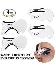 Travelmall 4pochoirs pour eyeliner et yeux cendrés Pochoir Maquillage