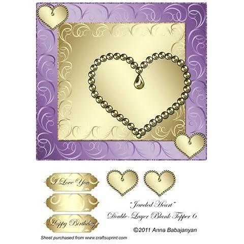 Cristales del corazón de doble-capa en blanco Topper 6 por Ana Babajanyan