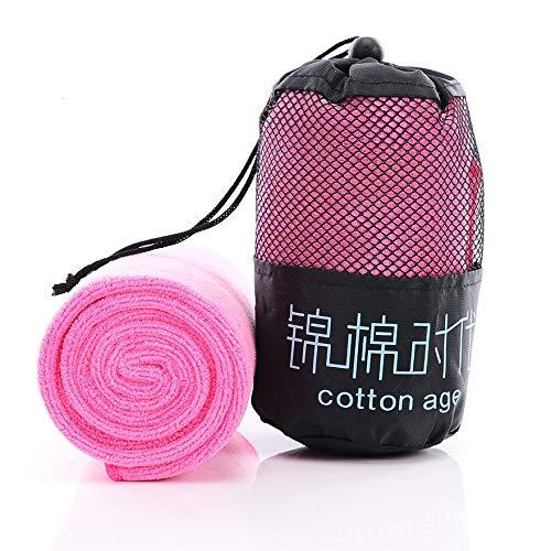 Bigherdez Ultrafeine Faser Schnell trocknendes Sport Handtuch Mikrofaser Handtuch Gym Sport Footy Reisen Camping Wandern Schwimmen - Pink -