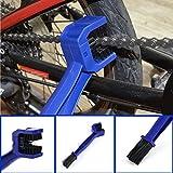 BOMIEN Motorrad Bike Kette Grunge Wartung Reinigung Pinselreiniger Werkzeug Cycle Bremse Schmutz Entferner blau