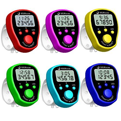 Rongzou Finger Counter Clock LCD Elektronische Digitale Zähler Mit Zeit Und Hintergrundbeleuchtung