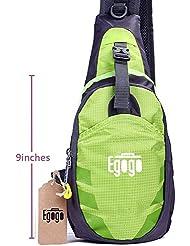 EGOGO multifuncional 3 capas senderismo ciclismo bolsa Sling Pack con correa de hombro ajustable cruzan cuerpo pecho bolsa Sling bolso mini bandolera para hombres y mujeres