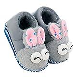 Unisex-Kinder Pantoffeln, Warme Hausschuhe, Winter Indoor Pantoffeln, Plüsch Hausschuhe, Wärme Weiche Leicht Plüsch Pantoffeln Kuschelige Startseite Rutschfeste Slippers