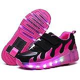 Unisex bambini LED Roller Scarpe Singola Doppio Rotelle LED Luci
