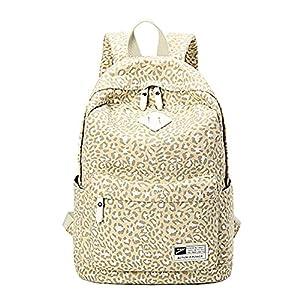 Moollyfox Mujer Estampado de leopardo Mochila de Viaje Estilo de muy buen gusto bolso de escuela la capacidad grande Mochila para estudiantes