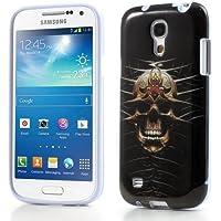 Skull Totenkopf TPU-Case Case Hülle zu Samsung Galaxy S4 mini GT-I9190 Cool Skin Handyhülle Schutzhülle Cover Schale