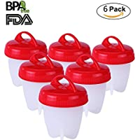 New Upgrade Egg Cooker Hard & Soft Maker, CARETH BPA Free, Non Stick Silicone, No Shell,Silicone Eggs Maker,As Seen On TV without the Shell (6 Pack)