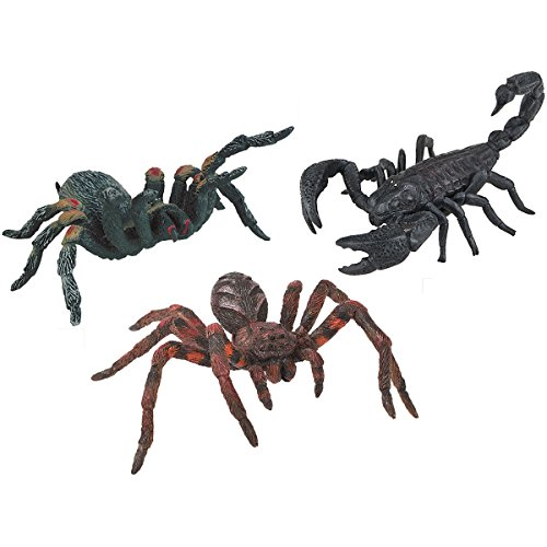 Bullyland Spinnen-Tiere-Set - 68389 Skorpion, 38430 Wolfsspinne & 38453 Vogelspinne