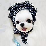 QFFL Lattice di panno Coprire il sole Pet cane Capelli ornamenti Cucciolo di gatto Transfiguration Tappo di baseball Abbigliamento per animali domestici ( Colore : Blu , dimensioni : S (pet within 6 pounds) )