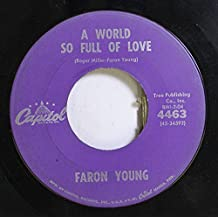 Faron Young 45 RPM A World So Full of Love / Forget the Past