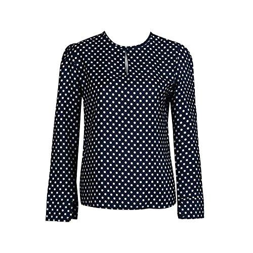 lhwy-mujer-casual-tops-manga-larga-blusas-verano-gasa-lunares-camisa-xxxxl-azul-profundo