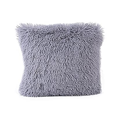 Tonwalk Plush Pillowcases Sofa Waist Throw Cushion Cover Home Decor 43cmx43cm - inexpensive UK light shop.